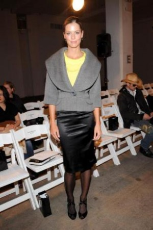 Anna Rawson on the catwalk at LA Fashion Week.